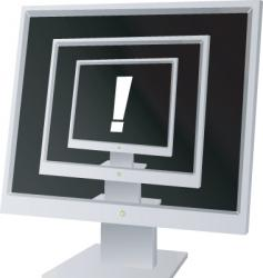 monitor exclamation vector image vector image