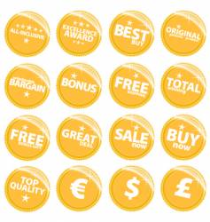 retail web stickers vector image
