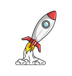 Space rocket icon vector