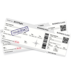Template of boarding pass ticket vector