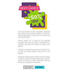 best choice -50 off internet vector image