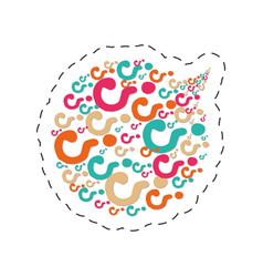 bubble speack question mark image vector image
