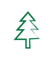 Christmas tree grunge silhouette vector