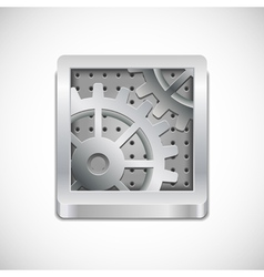 computer settings icon vector image vector image