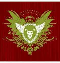 heraldry with lion head vector image vector image