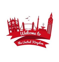 logo landmarks of United Kingdom vector image