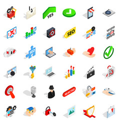 safety icons set isometric style vector image vector image