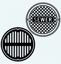 Sewer manhole vector image vector image