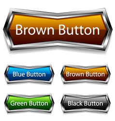 shiny chrome web buttons vector image