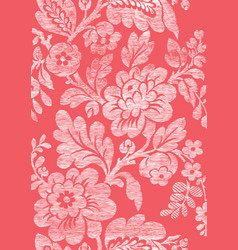 4 Abstract hand-drawn floral seamless pattern vector image