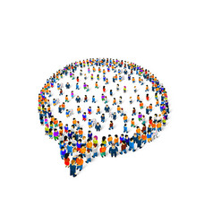 a group people shaped as a chat icon isolated vector image