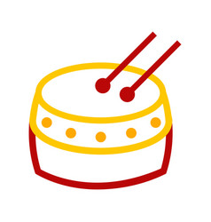 Abstract chinese tanggu drum graphic vector