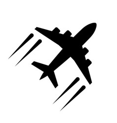 airplane icon in flat style plane symbol vector image