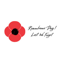 anzac day banner red poppy flower vector image