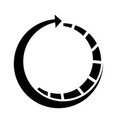 Arrow around isolated icon vector