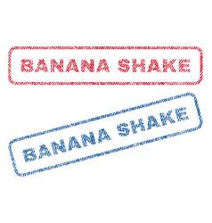 Banana shake textile stamps vector