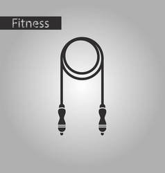 Black and white style icon jump rope vector