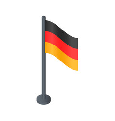 black desktop german flag icon isometric style vector image