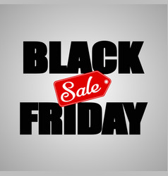 black friday sale inscription background vector image