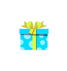 blue gift box icon isolated on white background vector image