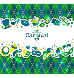 Bright carnival background and sign Welcome to vector
