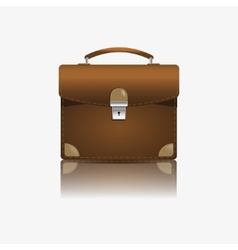 Brown briefcase vector image
