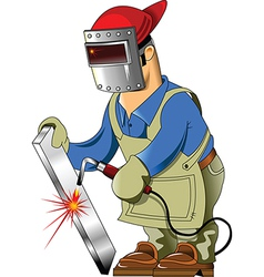 Cartoon welder vector image
