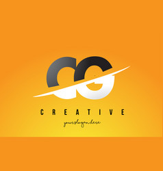 Cg c g letter modern logo design with yellow vector