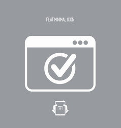 Check window - flat minimal icon vector