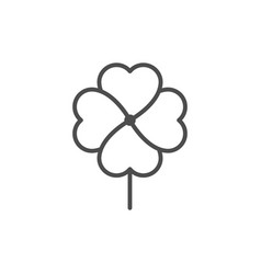 clover line icon vector image
