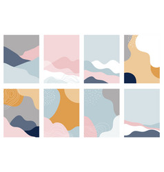 Collection abstract background designs shapes vector
