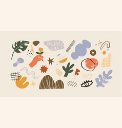 Collection various modern abstract geometric vector