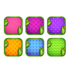 Colorful app icons with different patterns vector