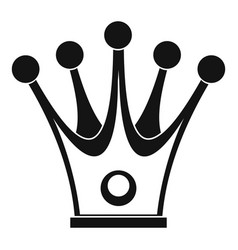 Crown icon simple style vector