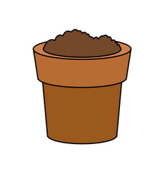 dirt or soil in pot icon image vector image