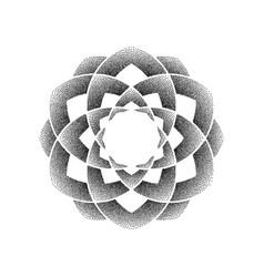 dots black circle mandala vector image