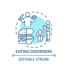 Eating disorders concept icon vector