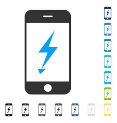 Electric mobile phone icon vector