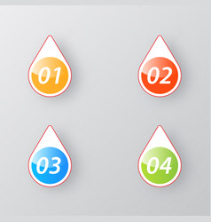 Elements of infographics color buttons steps vector