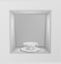 Empty showcase niche abstract clean empty vector