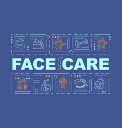 face care word concepts banner vector image