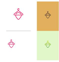 fashion point logo designs concept store vector image