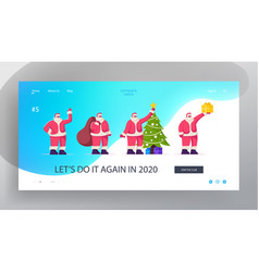 father noel congratulation website landing page vector image