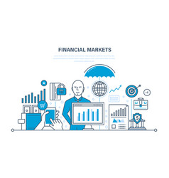 Financial markets banking savings investments vector