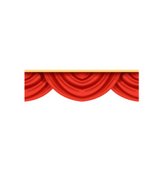 flat cartoon design element of red pelmets border vector image