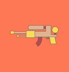 flat icon on background kids toy water gun vector image