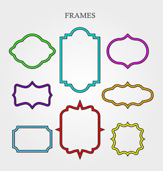 frame retro decoration element pattern ornate vector image