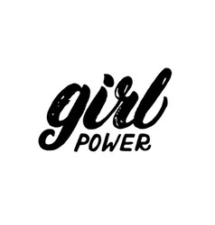 Girl power hand written lettering vector