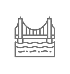 golden gate bridge san francisco usa line icon vector image