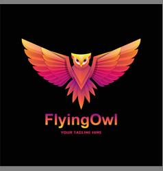 Gradient owl logo vector